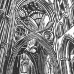 Monochrome Scissor Arch print 15x20cm